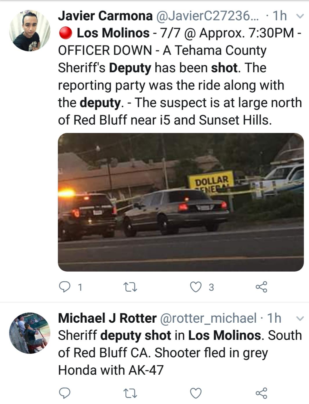 Words Worth: Tehama County Sheriff's deputy shot, suspect