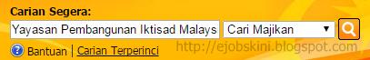 Jawatan Kosong Yayasan Pembangunan Iktisad Malaysia Disember 2016