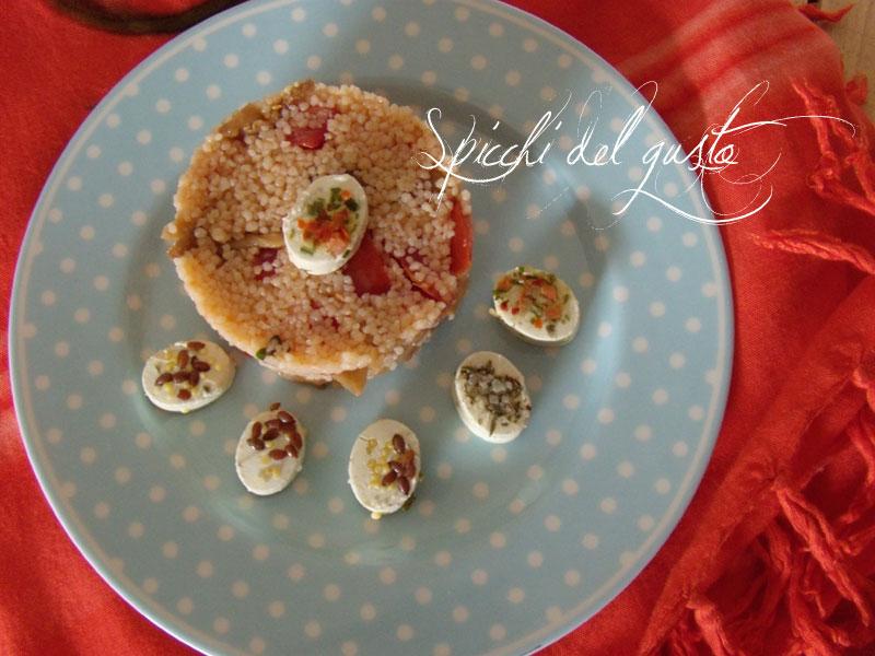 couscous di funghi e pomodorini