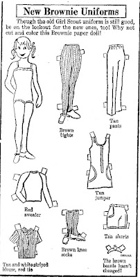 Mostly Paper Dolls: New Brownie Uniforms Paper Doll, 1974