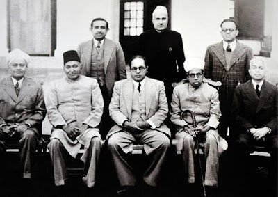 Dr Ambedkar with Members of Drafting Committee