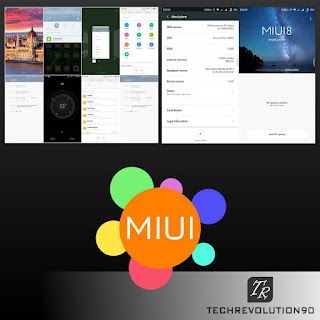 Contoh tampilan UI ROM MIUI 8