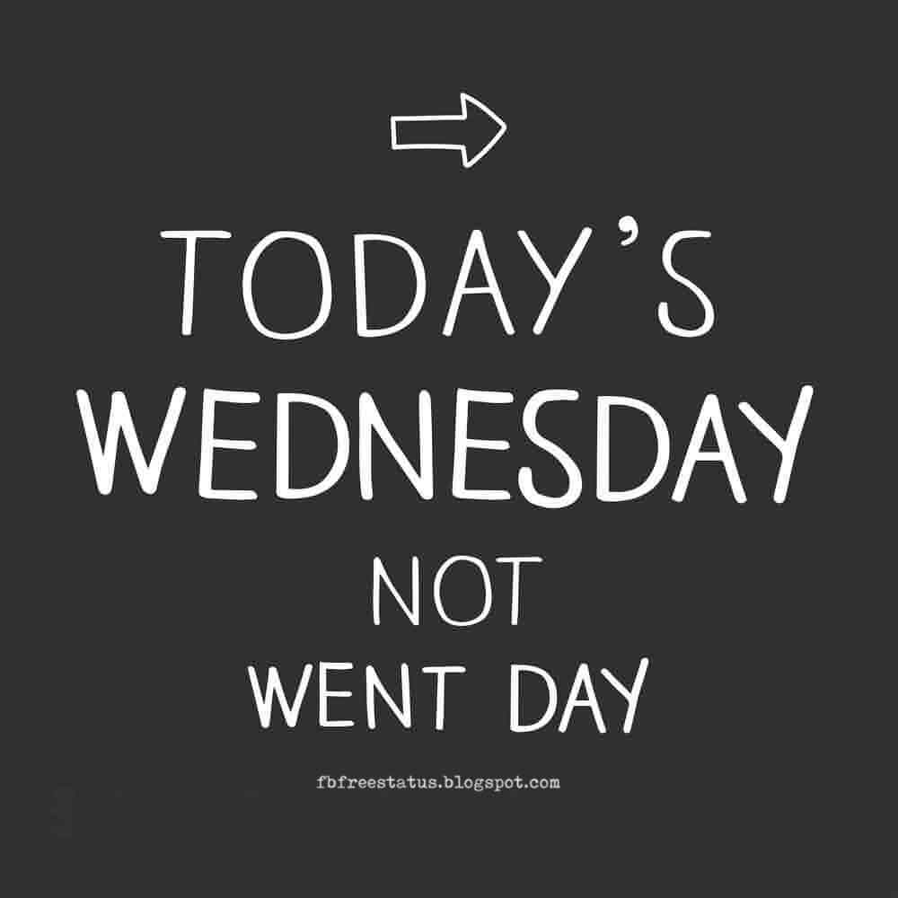 Today Wednesday, Not Went Day, Happy Wednesday.