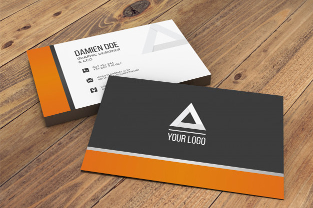 Free Business Card Mockup, free business card mockup generator