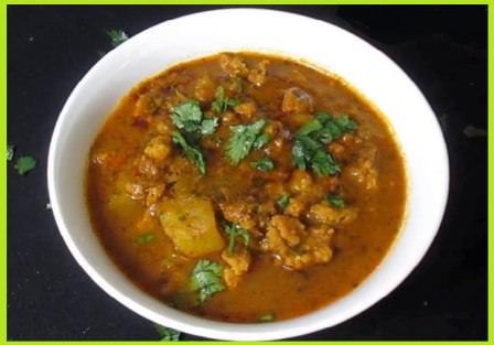 Dal Mangodi Sabji Recipe