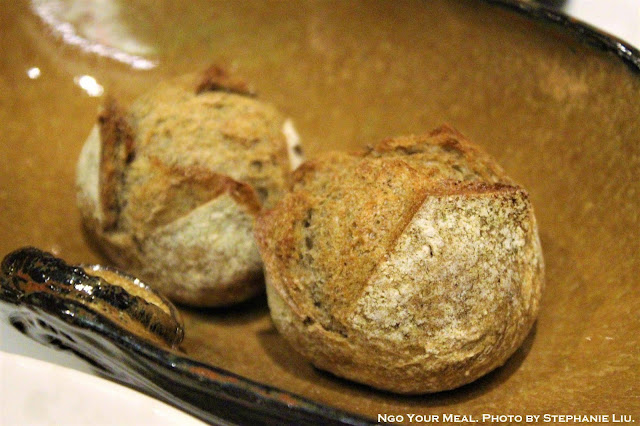 Rosemary Buckwheat Rolls with Whipped Lardo at Gabriel Kreuther in New York City