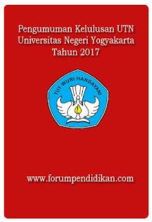 Pengumuman UTN 2017 UNY