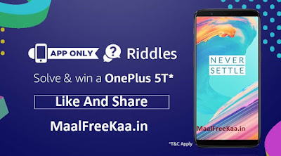 Riddles Solve & Win a OnePlus 5T