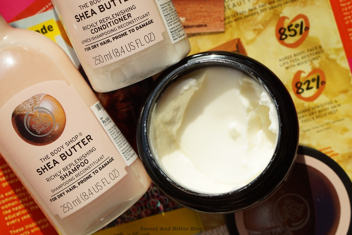 The Body Shop Shea Richly Replenishing Hair Mask Review Texture India