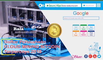 Daftar Situs Cloud Mining Bitcoin Yang Masih Terpercaya dan Membayar 2018