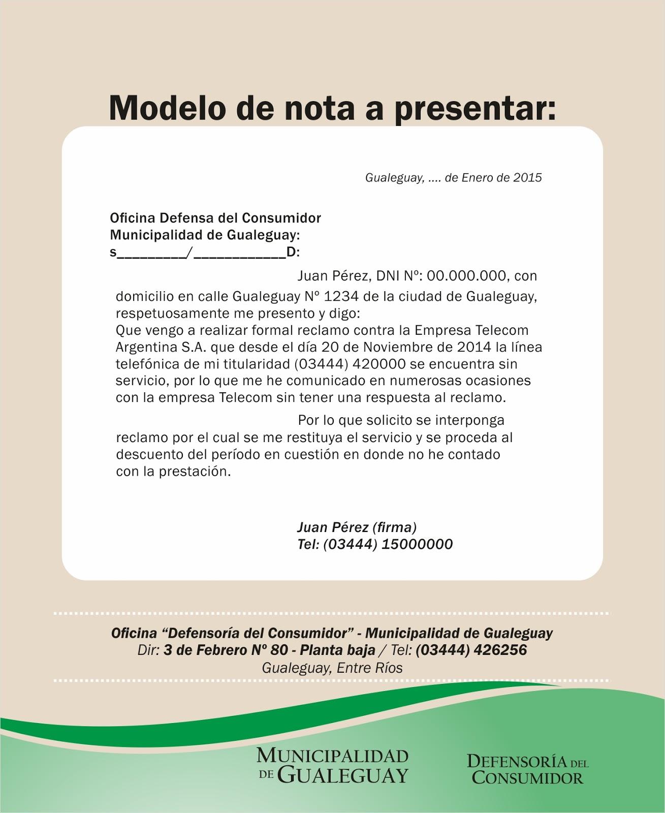 Gualeguay defensa del consumidor for Oficina del consumidor