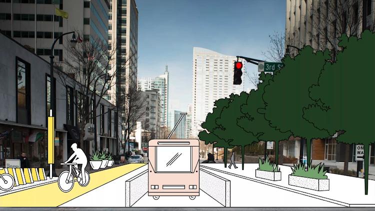 Лишние полосы будут отданы велосипедам и тротуарам