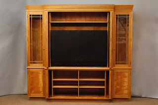 Handcrafted Solid Wood Media Cabinet