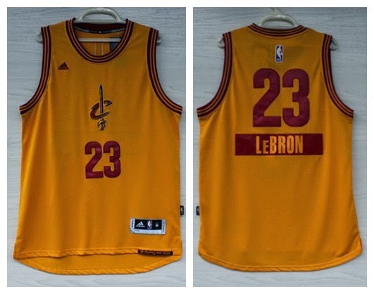 254dce76f30c Cleveland Cavaliers LeBron James adidas Gold 2014-15 Christmas Day Swingman  Alternate Jerseys