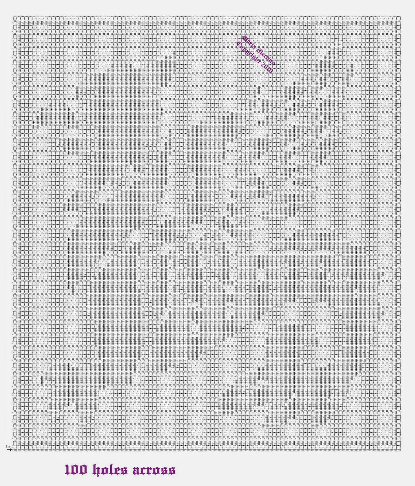 Filet Crochet: Crochet Filet Medieval Gryphon Dragon