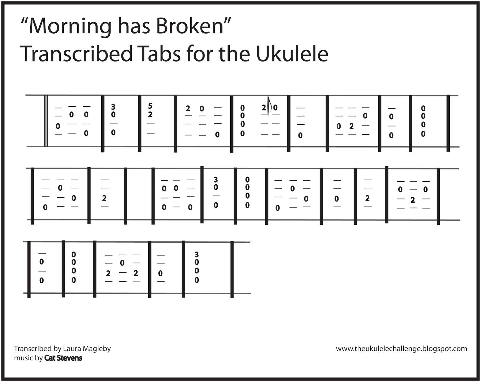 The Ukulele Challenge Morning Has Broken For The Ukulele
