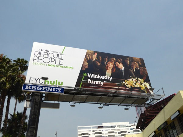 Difficult People Emmy FYC 2016 Hulu billboard