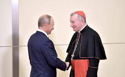 Russian President Vladimir Putin, Vatican Secretary of State Cardinal Pietro Parolin.