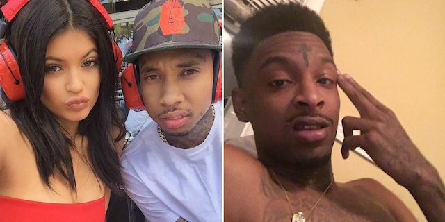 Tyga and 21 Savage dissing each other over Kylie Jenner