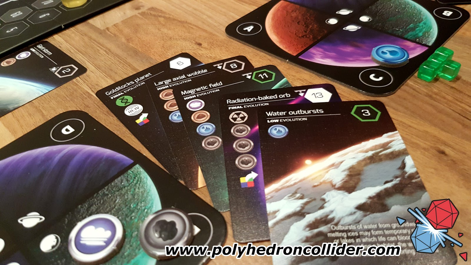 Planetarium board game review evolution cards
