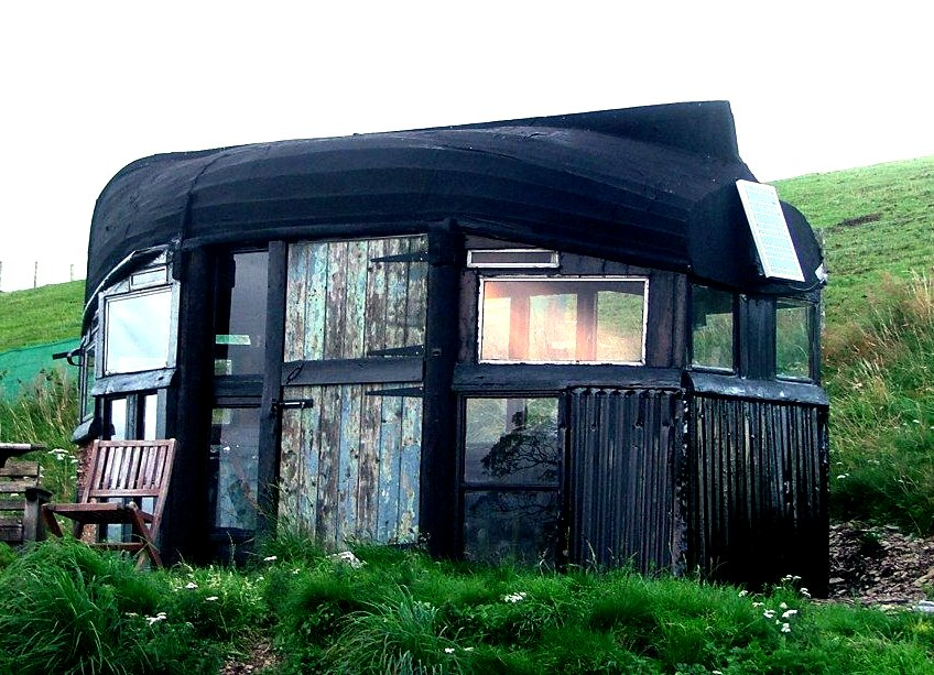 The Flying Tortoise: A Very Gorgeous Tiny Boat Roofed Shed