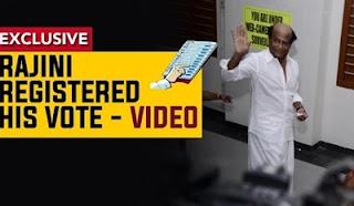 Kabali Rajinikanth casts his vote