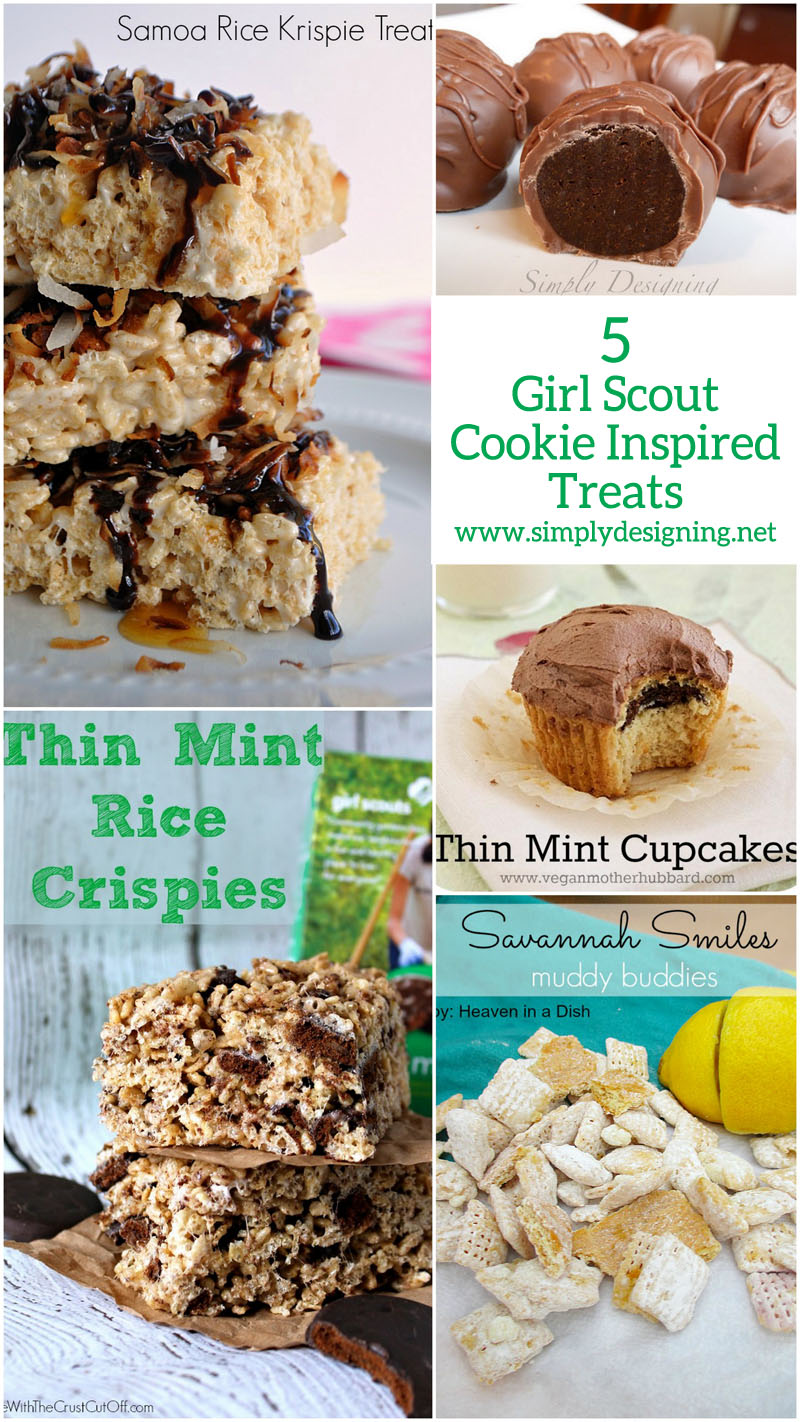 5 Girl Scout Cookie Inspired Treats | #recipes #roundup #girlscoutcookies #desesert