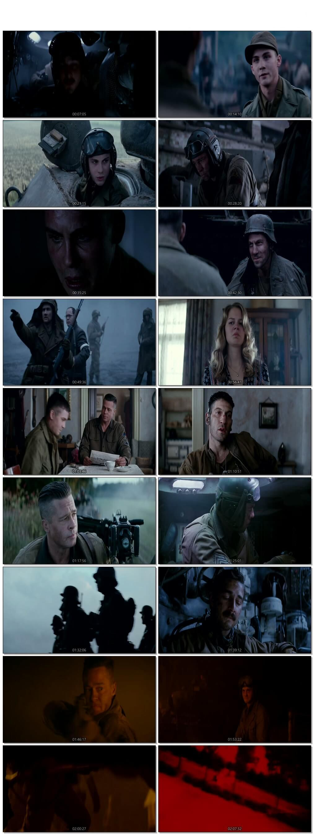 Screen Shot Of Fury 2014 300MB Full Movie Hindi Dubbed Free Download 480P BRRip Small Size PC Movie