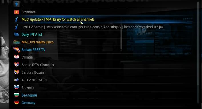 Live TV Serbia addon / Besplatno gledanje EXYU, Balkan IPTV 2016