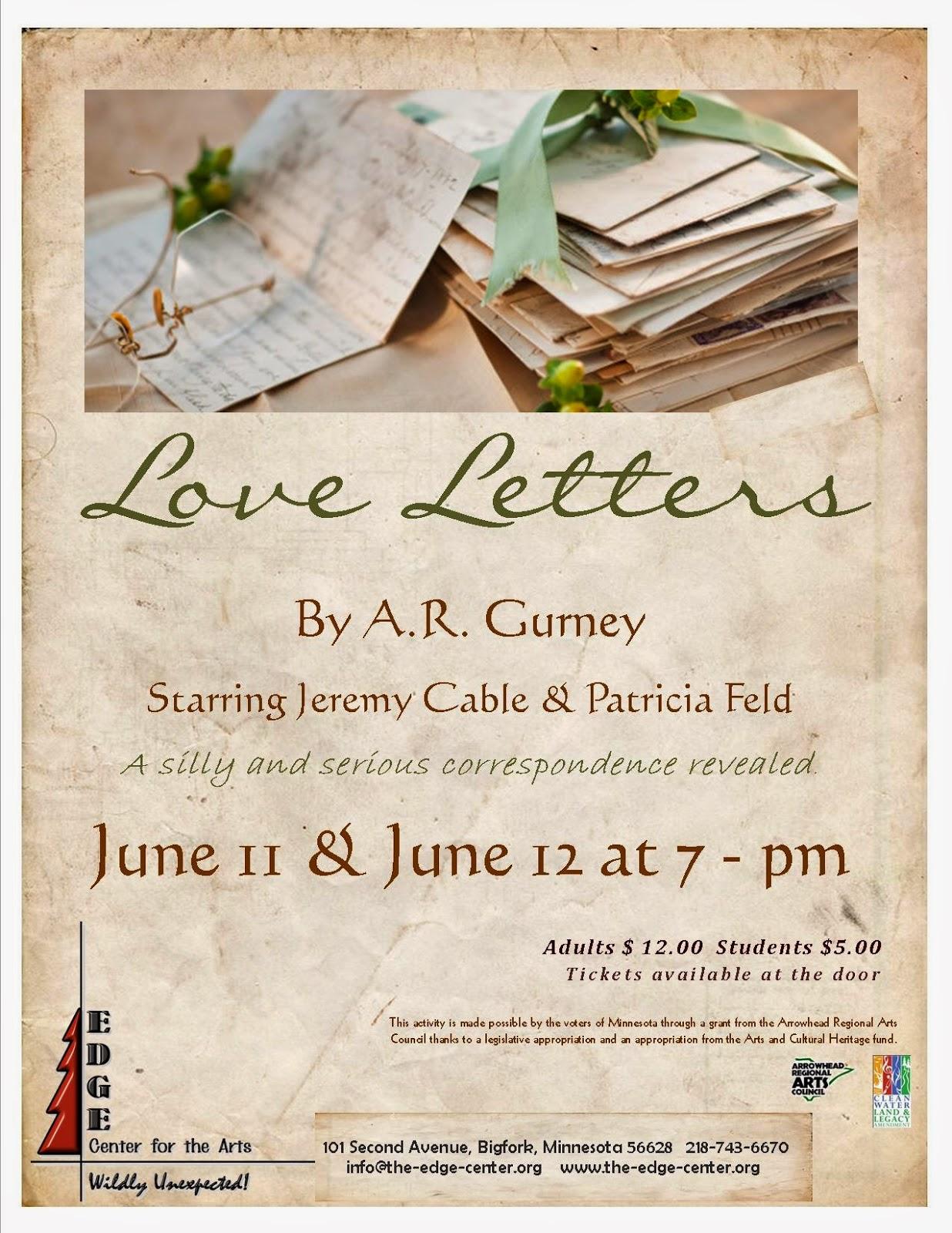 """Edge Center for the Arts """"Love Letters"""" Provide a Unique Love"""