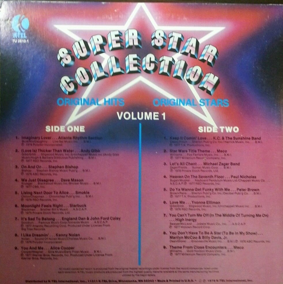K Tel Kollection 1973 1983 Super Star Collection 1978