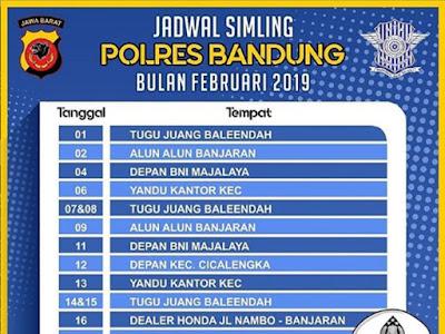 Jadwal SIM Keliling Polres Bandung Bulan Februari 2019