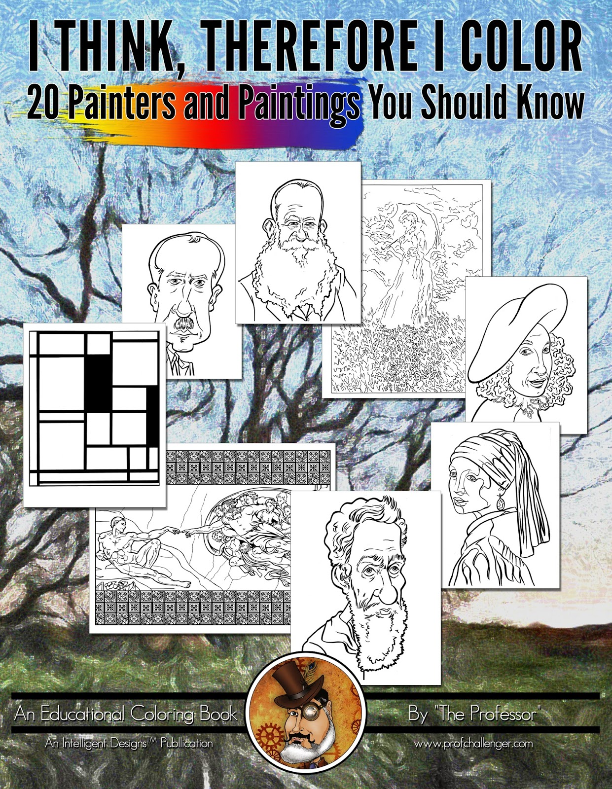 ANNOUNCING 20 PAINTERS PAINTINGS YOU SHOULD KNOW AN ALL AGES EDUCATIONAL COLORING BOOK