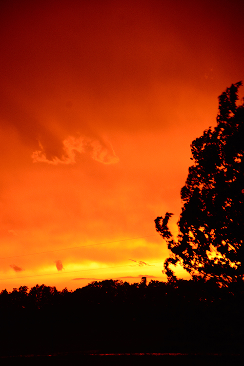 Fire sky; Sunset; Northeast Wisconsin | My Darling Days Blog