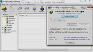 Picture showing Registered IDM 6.11 Build 7