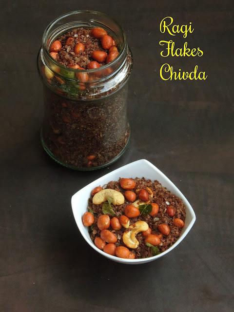 Ragi flakes Chivda, Finger millet flakes chivda
