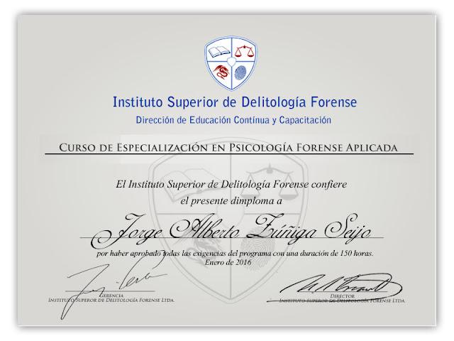 Especialización psicologia juridica forense online