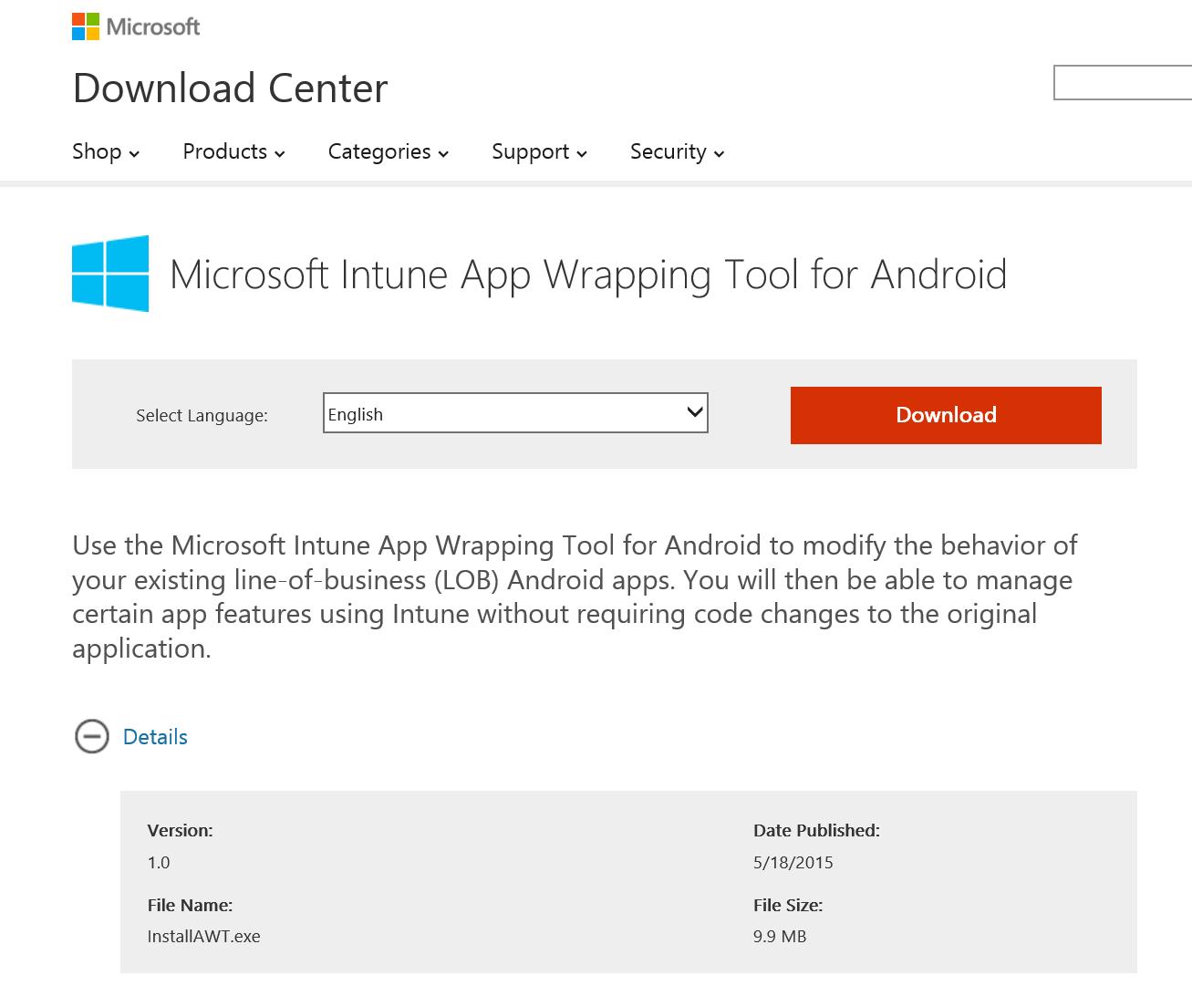 Microsoft Intune App