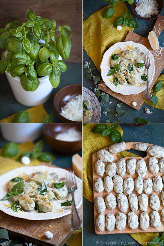 gnudi włoskie kluseczki bazyliowe z masłem cytrynowym