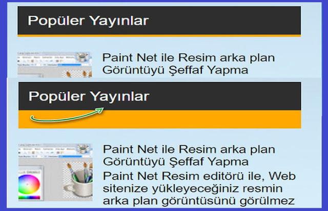 Blogger Sidebar gadget başlık ismi arka plan rengini çift renkler ile değiştirerek okuyucu dikkatini çekebileceğiniz Sidebar Çift Renkli Gadget Başlık Eklentisi.