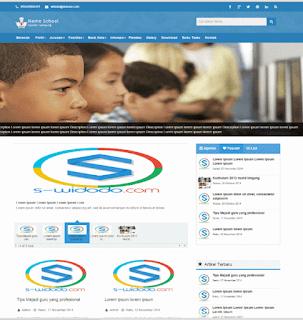 Download GRATIS Contoh Website Profil Sekolah Dengan PHP