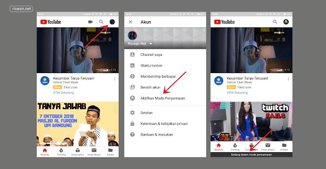 Cara Mengaktifkan Mode Incognito di Aplikasi YouTube
