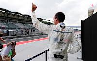 Robert Kubica macha do kibiców Hungaroring 2018