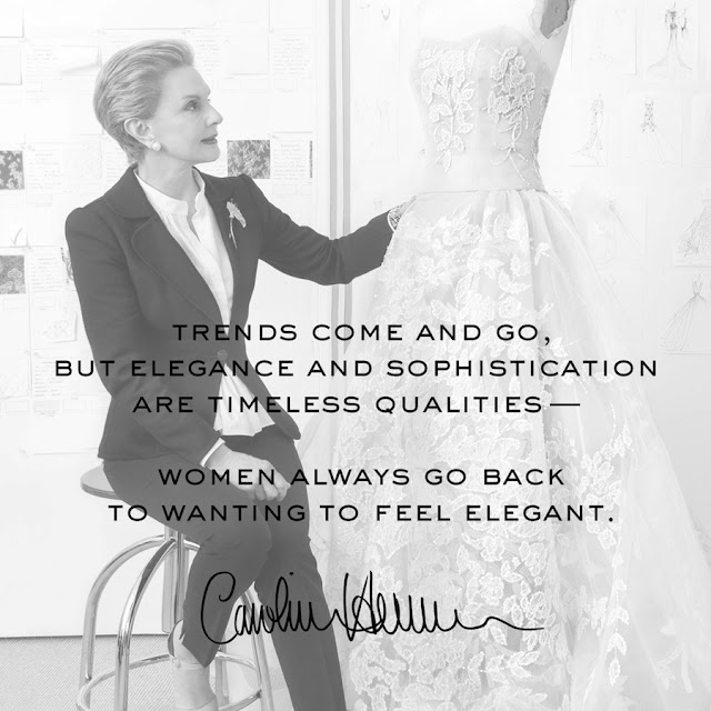 Words of Wisdom by Carolina Herrera : Cool Chic Style Fashion
