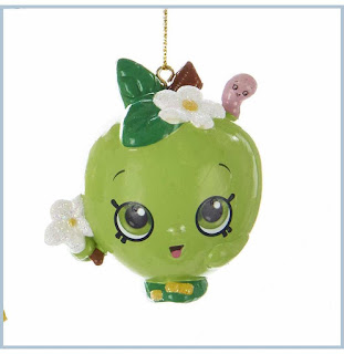 Shopkins Blow Mold Christmas Ornament Apple Blossom