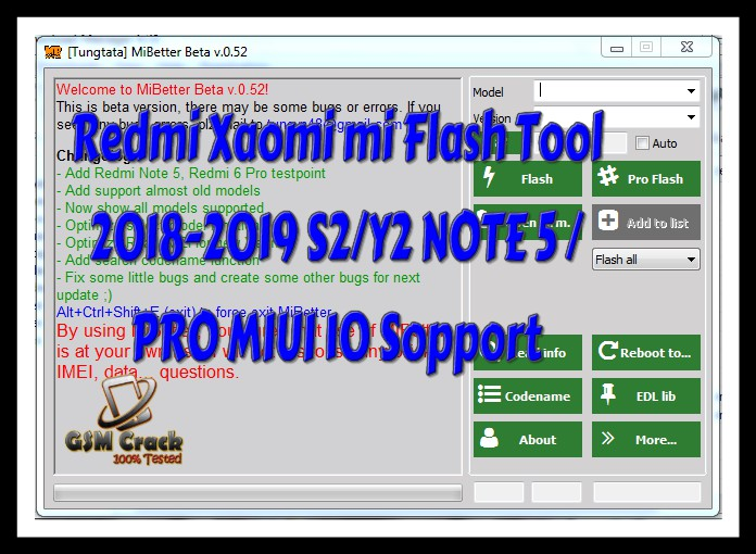 Redmi xaomi mi flash tool 2018-2019 S2/Y2 NOTE 5 / PRO MIUI