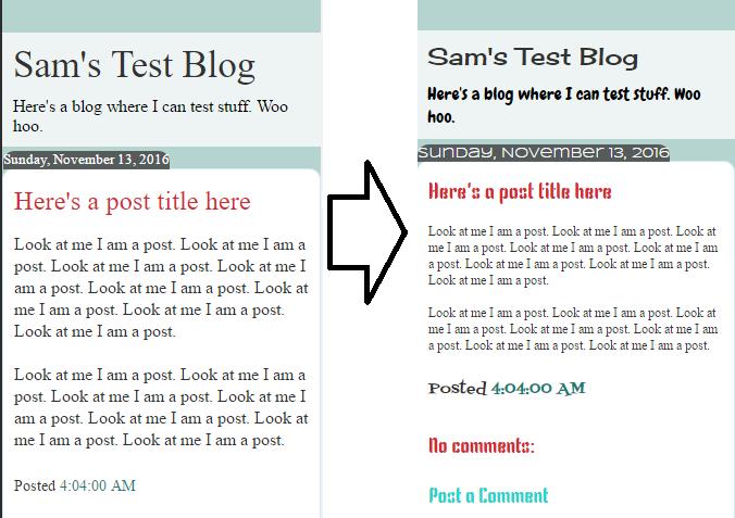10원 tips customizing fonts in blogger mobile view