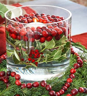 cranberry wedding centerpiece