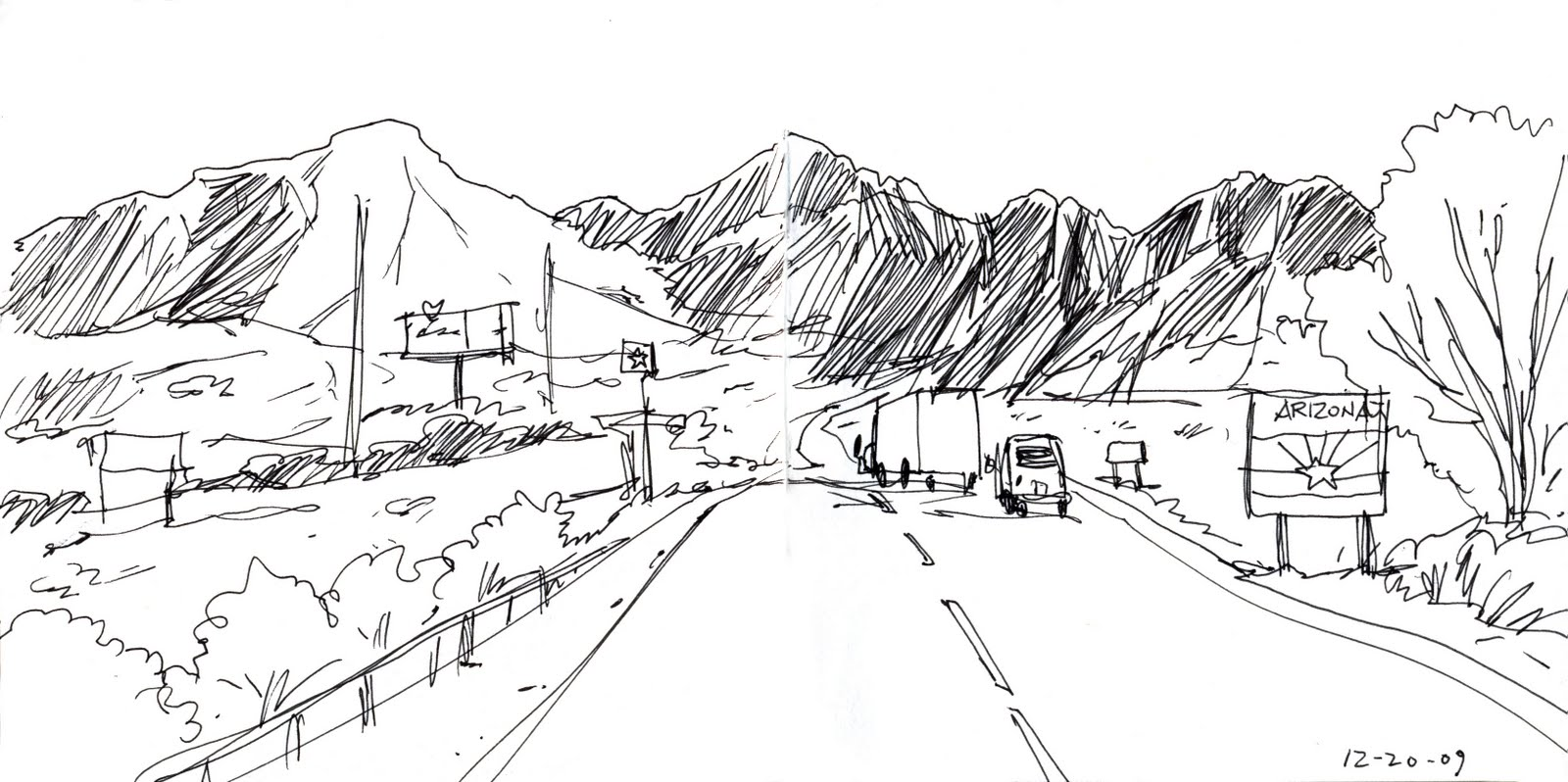 Works In Progress On Location Drawing On Location In