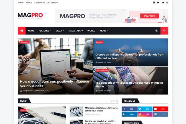How To Install And Setup MagPro Magazine Blogger Template